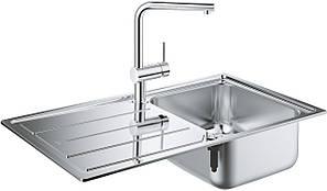 Hабор Кухонная мойка Grohe EX Sink 31573SD0 K500 + смеситель Minta 32168000
