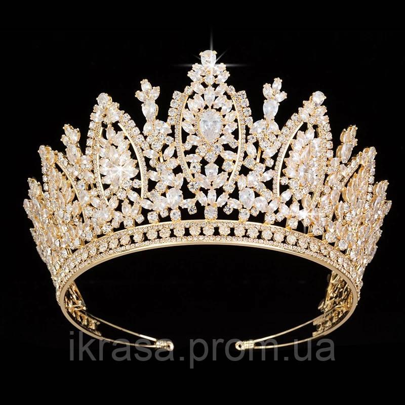 VIP діадема з ювелірними діамантами цирконами (8.5см)