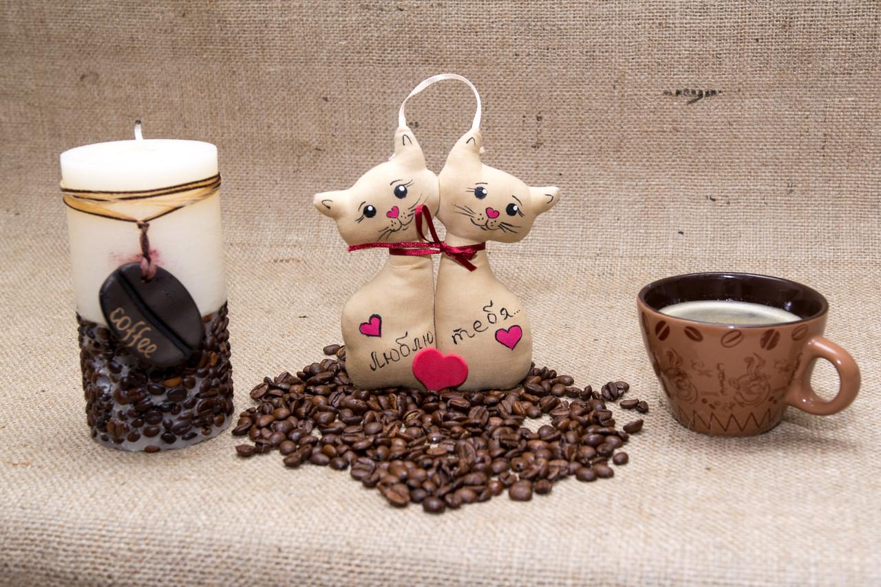 Кофейная игрушка Неразлучники Коты кофе пара малая