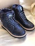 Зимние синие ботинки на меху размеры 36 и 37, фото 2