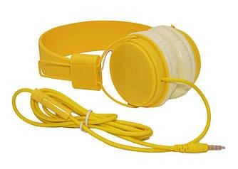 Накладные наушники  KIDA KD-450 (желтые)