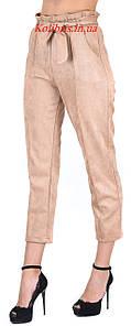Замшевые модные штанишки момы пудра