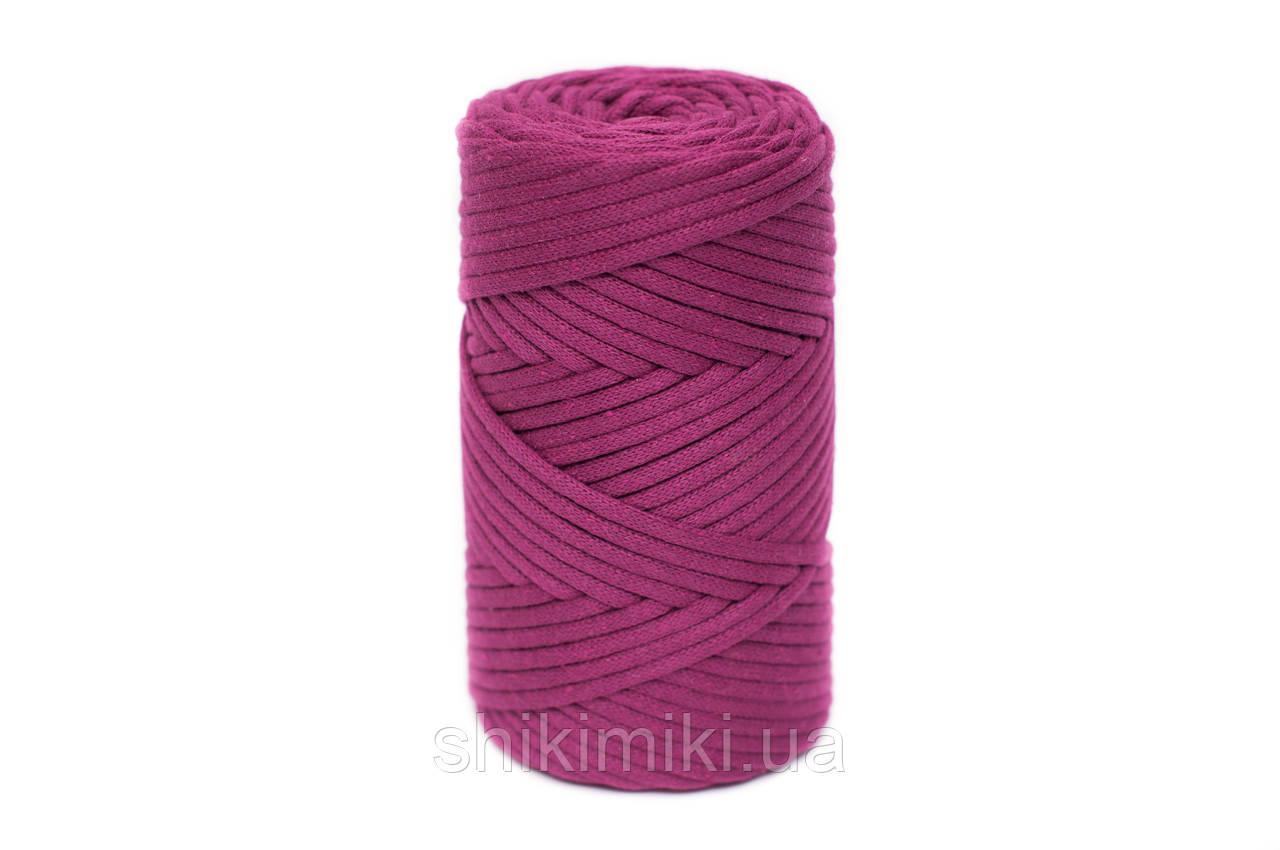 Трикотажный хлопковый шнур Cotton Filled 5 мм, цвет Ягодный