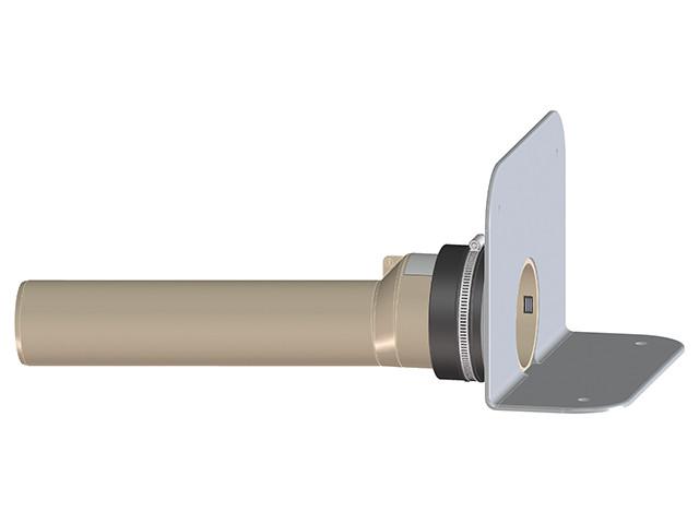 HL68P.0/75 Парапетная воронка с фланцем из ПВХ и отводящей трубой из ПП DN75