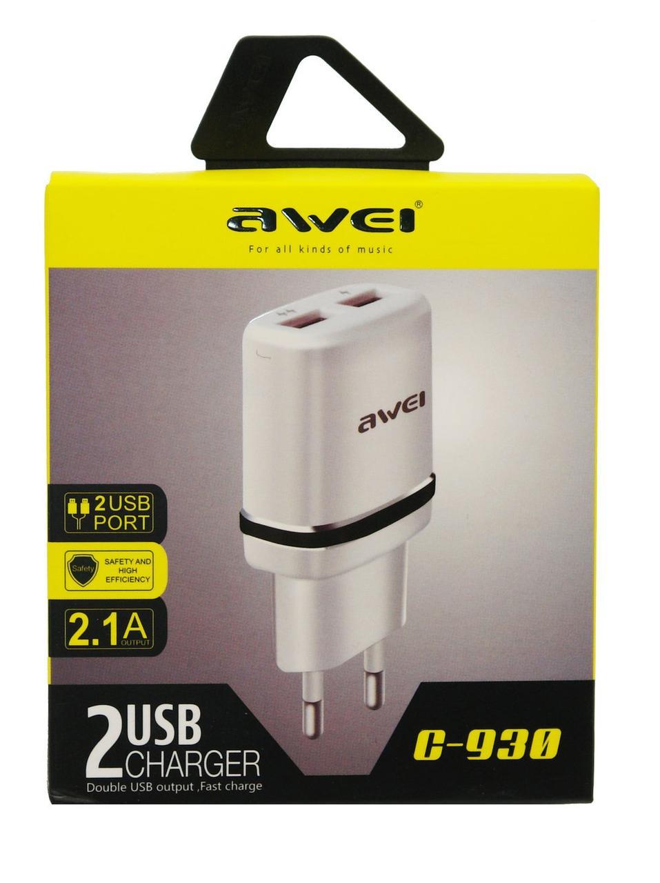 Сетевое зарядное устройство AWEI C930 (белый)