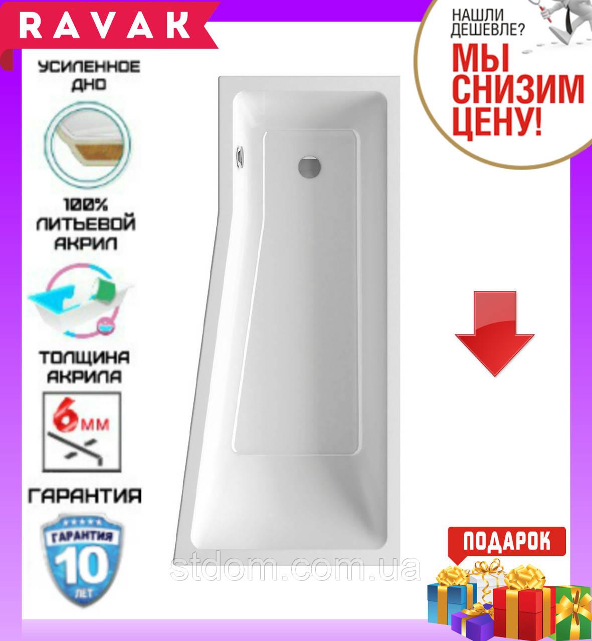 Акриловая ванна 160x75 см Ravak Be Happy II C971000000 правосторонняя