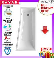 Акриловая ванна 160x75 см Ravak Be Happy II C971000000 правосторонняя, фото 1