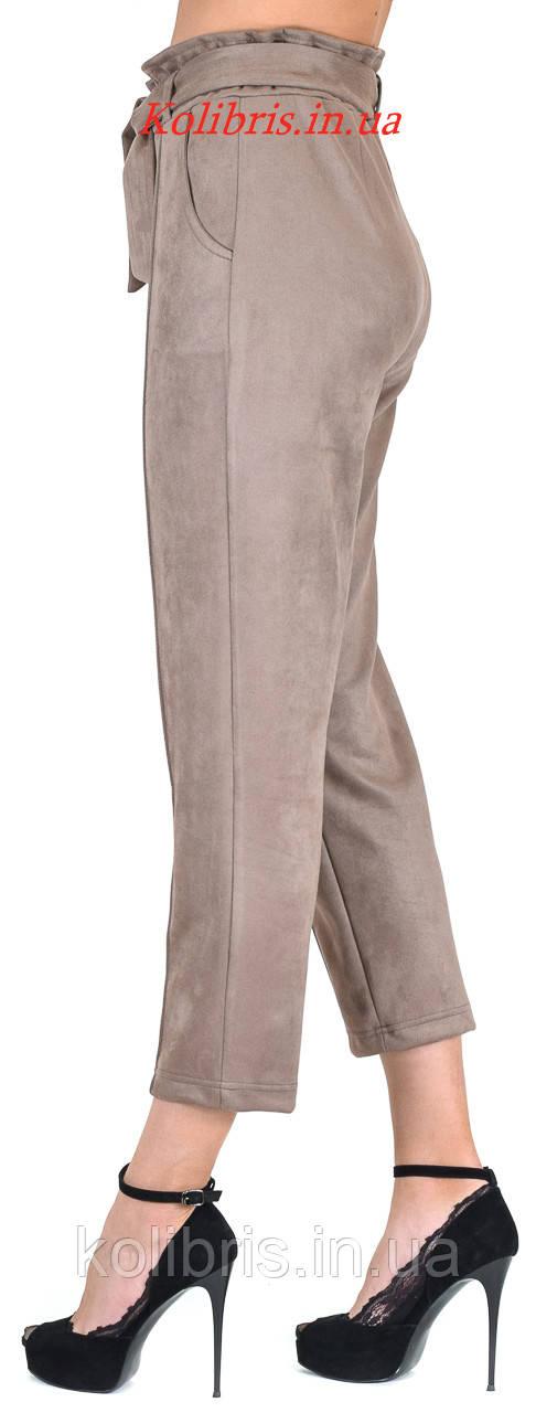 Замшевые модные штанишки момы капучино
