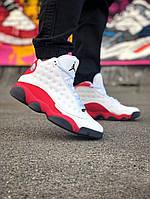 Баскетбольные кроссовки Jordan 13 белые в стиле джорданы, фото 1
