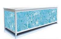 Экран под ванну торцевой 70 см, синий гранит, пластиковый каркас