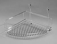 Полка навесная на релинг угловая 35 см (сатин) Homet R-107