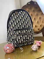 Модный женский текстильный рюкзак Dior (реплика), фото 1
