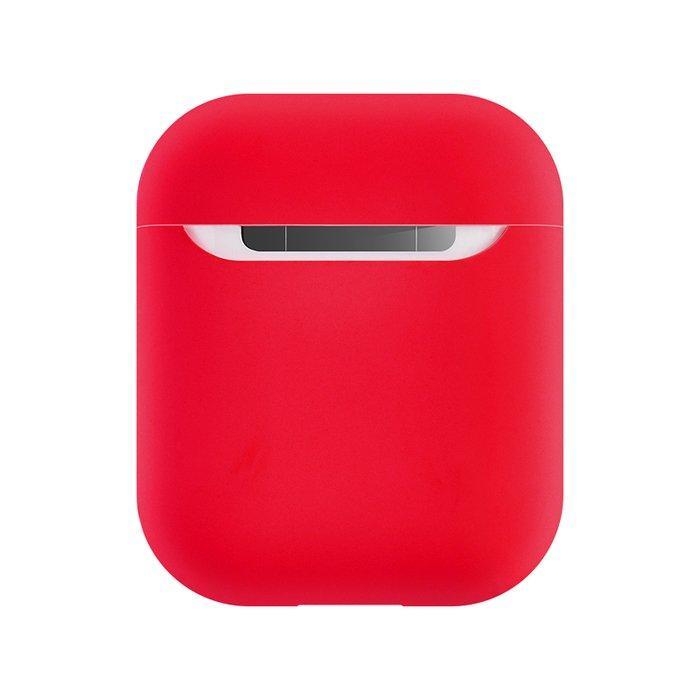Coteetci Liquid силиконовый чехол красный для Apple AirPods