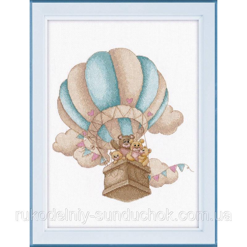 """Набор для вышивки крестом ТМ Овен """"На воздушном шаре"""" 1222"""