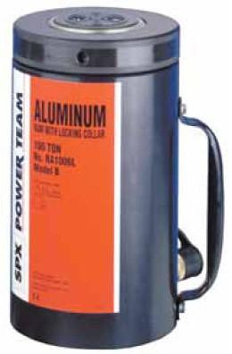 Гидравлические цилиндры из алюминия со стопорным кольцом СЕРИИ RL. Мощность 55 и 100 тонн.