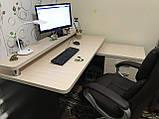 Компьютерный стол с полкой и тумбой, стол офисный V333, фото 3
