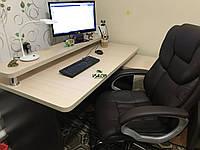 Компьютерный стол с полкой и тумбой, стол офисный V333, фото 1