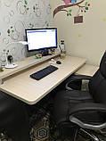 Компьютерный стол с полкой и тумбой, стол офисный V333, фото 4