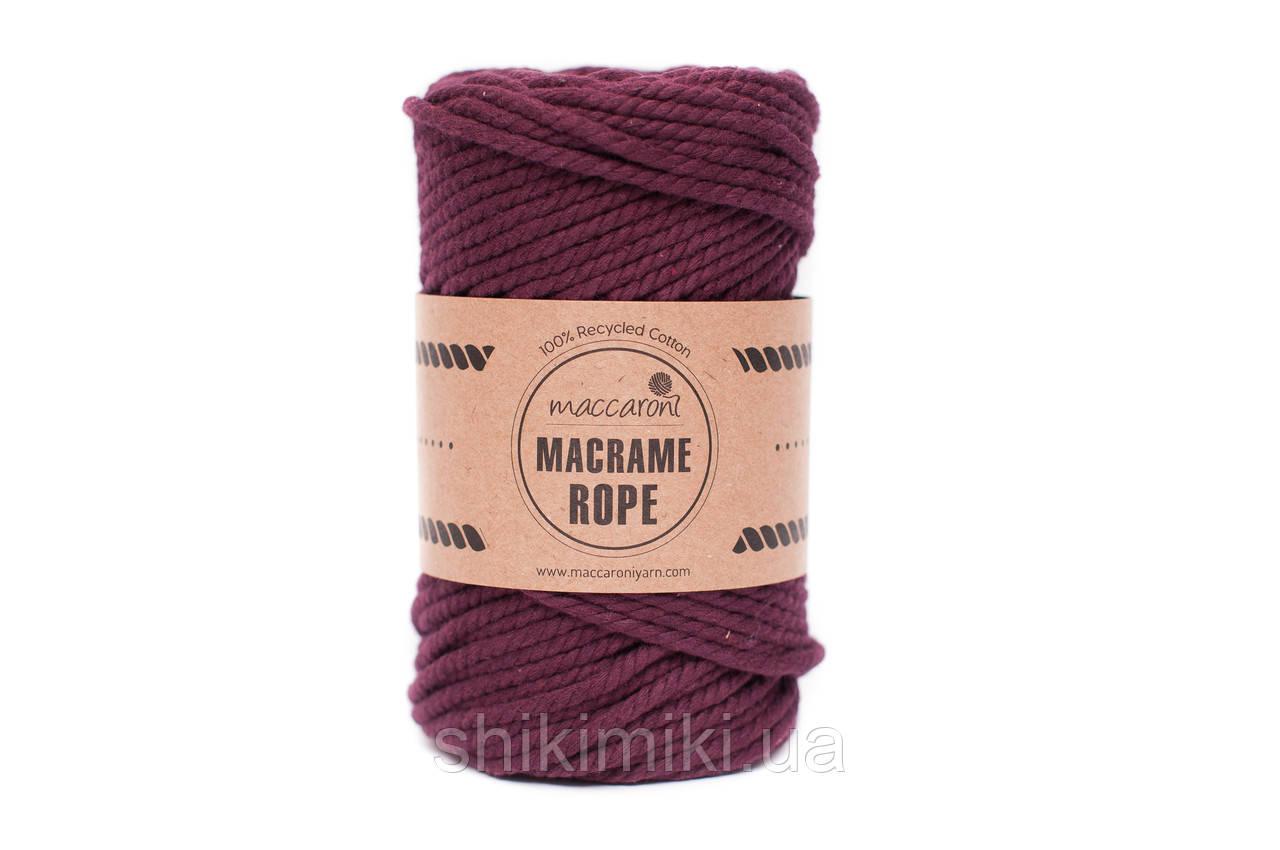 Эко шнур Macrame Rope 4mm, цвет бургунди