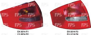 Фонарь задний Audi A6 C5 седан '97-05 правый (FPS) красно-белый 4B5945096B
