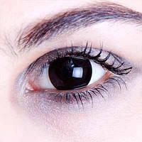 Купить черные линзы для глаз на Хеллоуин для карнавальной вечеринки НЕДОРОГО Украина!