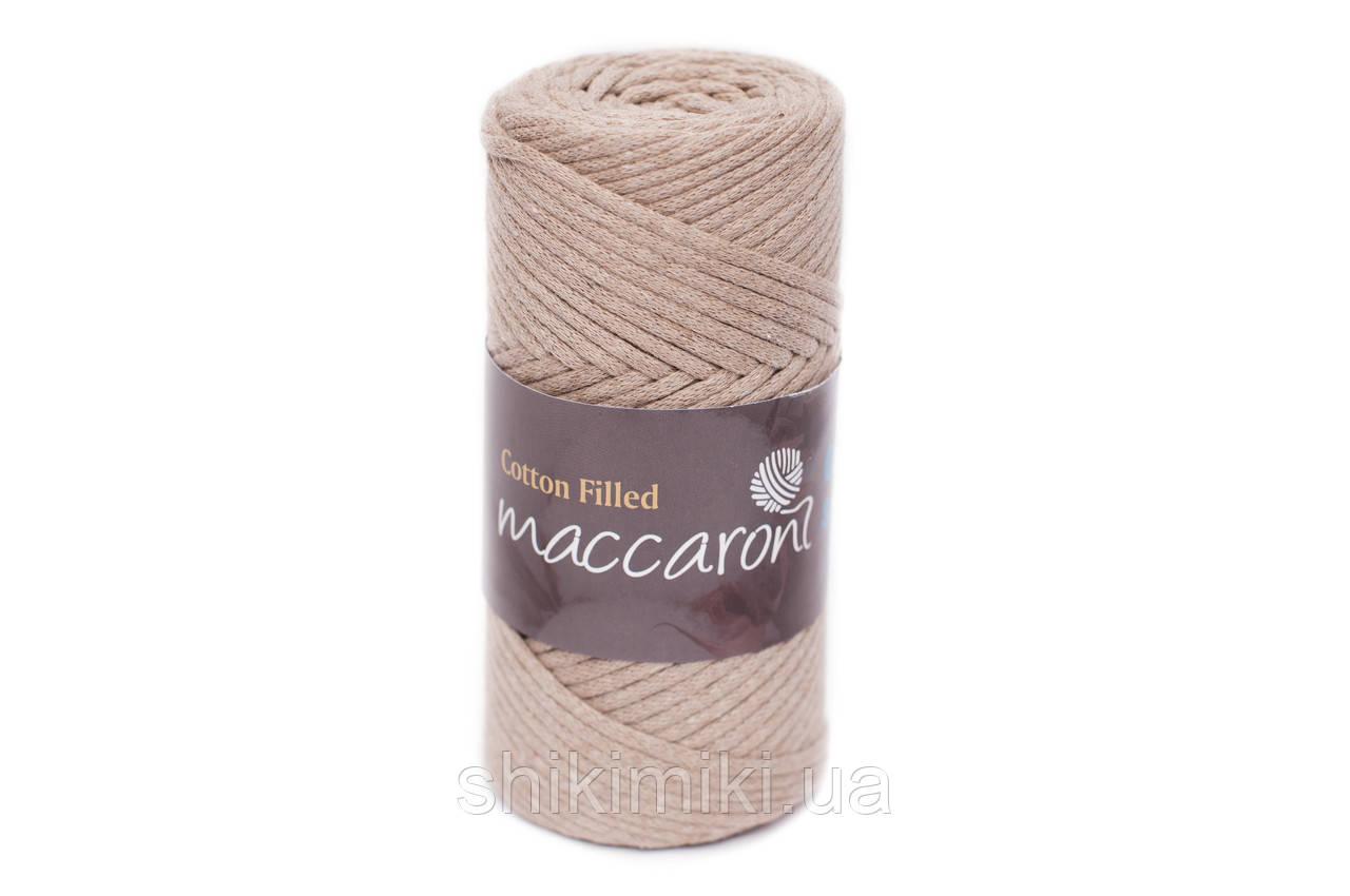Трикотажный хлопковый шнур Cotton Filled 3 мм, цвет Бежевый