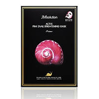 "Тканинна маска з муцином равлики JMsolution Active Pink Snail Brightening Mask ""Prime"""