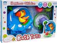 Яркая пластиковая игрушка для ванной на присоске Попугай Баскетболист