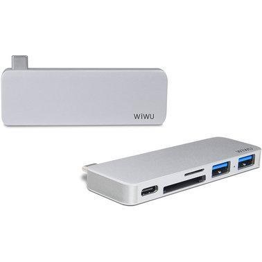 Адаптер WIWU Adapter T6 USB-C to USB-C+SD+2xUSB3.0 HUB