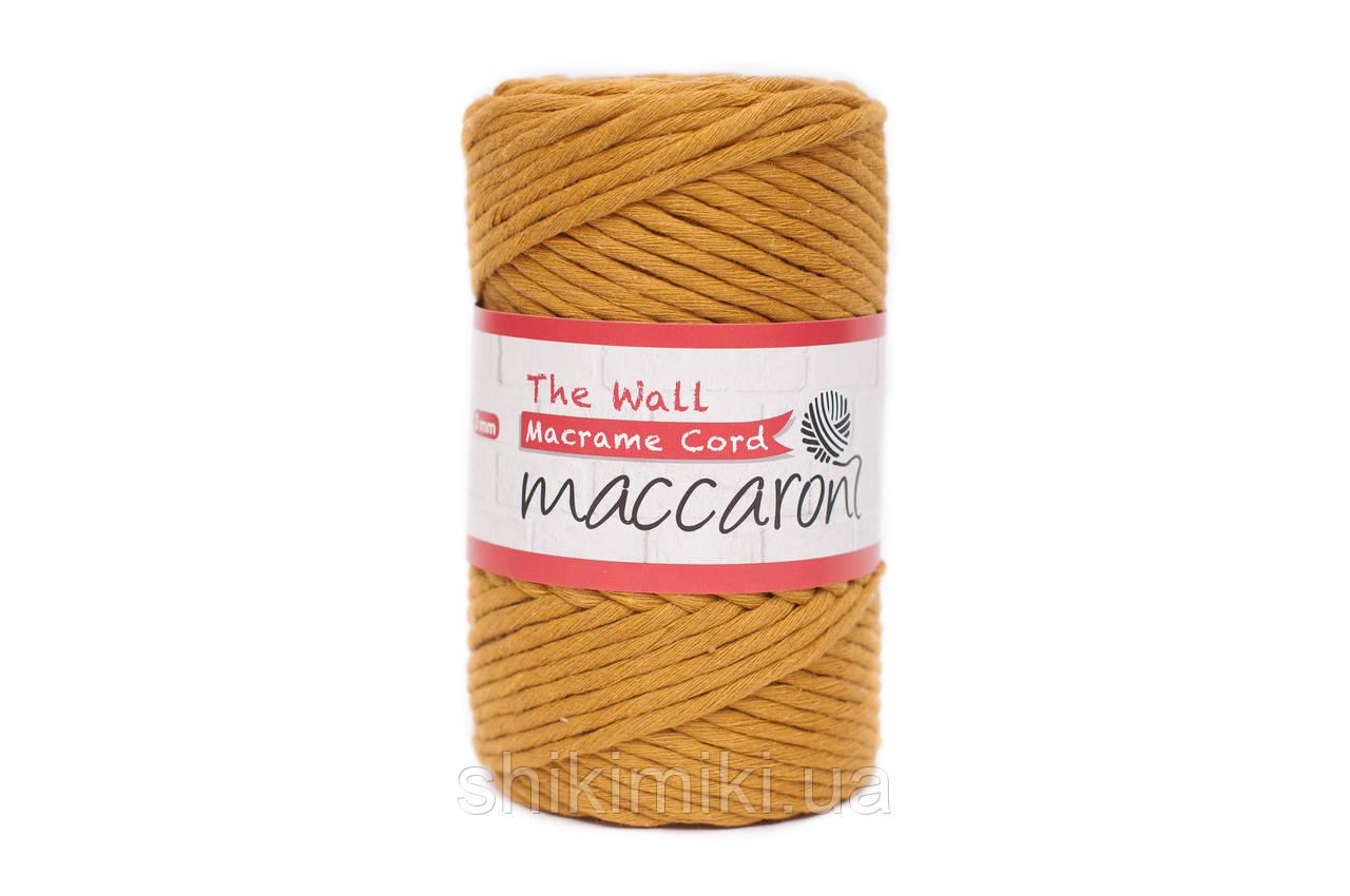 Эко шнур Macrame Cord 3 mm, цвет Горчица
