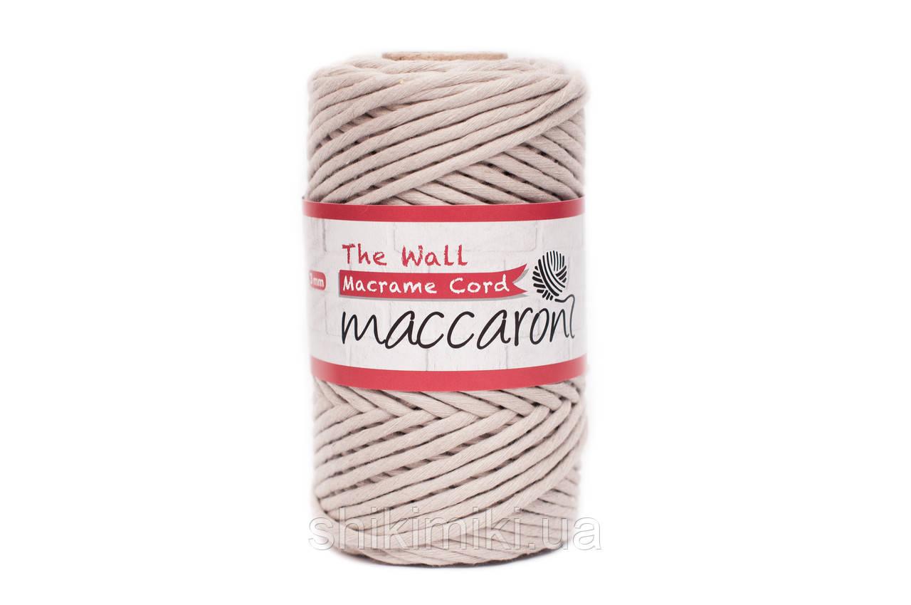 Эко шнур Macrame Cord 3 mm, цвет Светло бежевый