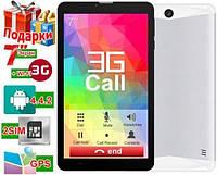 Хит продаж 3G планшет Samsung 4 ядра 1Gb 8Gb 2 SIM 3G GPS Подарок
