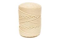 Трикотажный полипропиленовый шнур PP Cord 5 mm, цвет Пломбир молочный