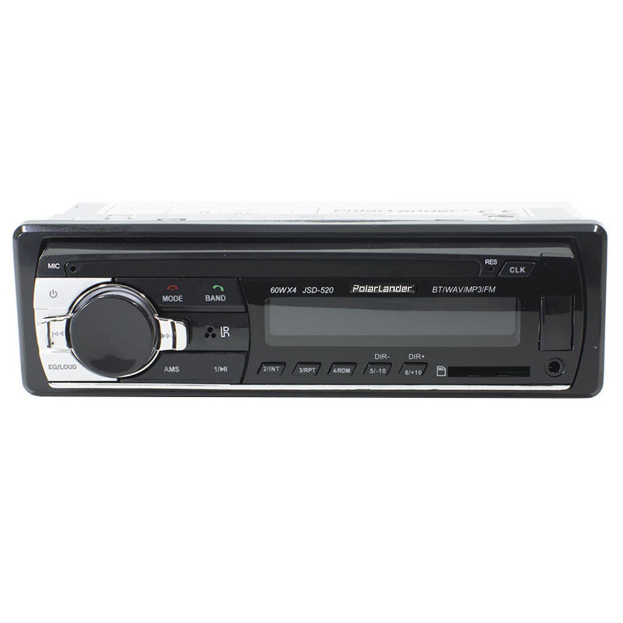 Автомагнитола Polarlander JSD 520 Bluetooth 1 DIN USB SD MMC 60х4 Вт пульт управления мощная (2341-5578)