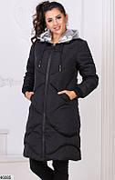 Женское зимнее пальто удлиненное холлофайбер 46-50 размеров Турция