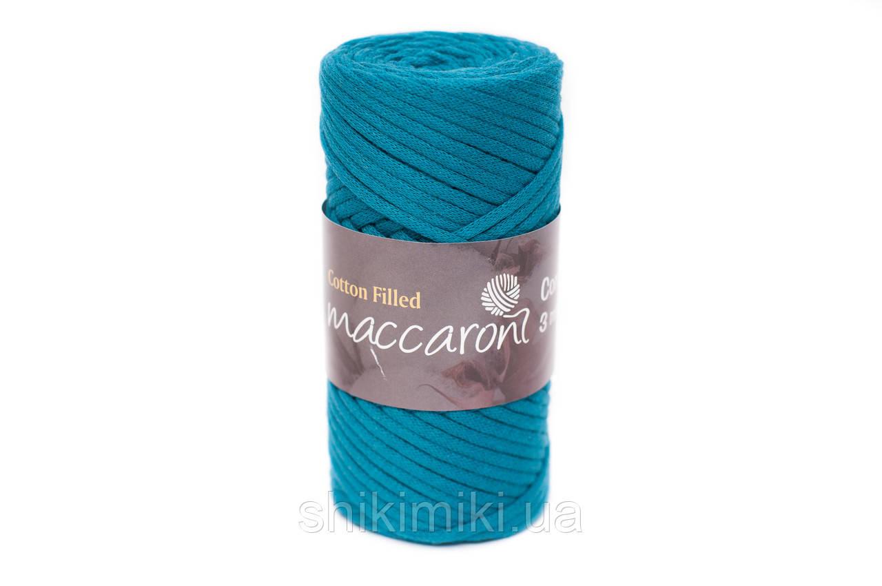 Трикотажный хлопковый шнур Cotton Filled 3 мм, цвет Темно-бирюзовый