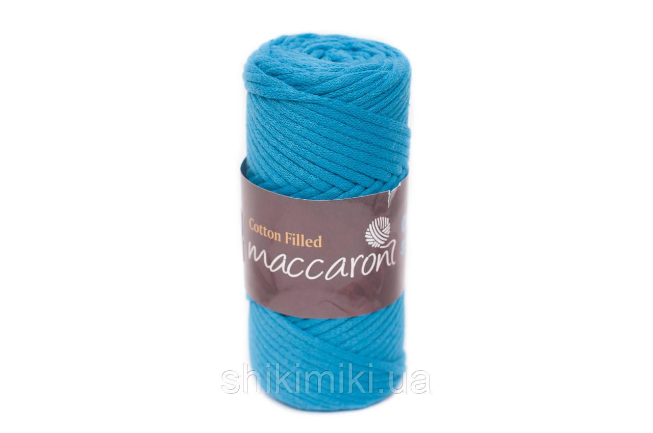 Трикотажный хлопковый шнур Cotton Filled 3 мм, цвет Морской волны