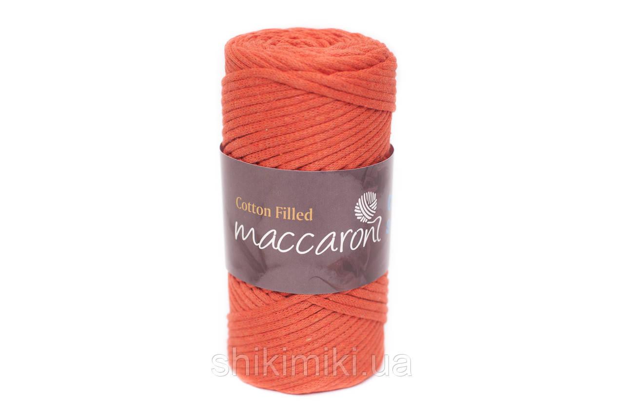 Трикотажный хлопковый шнур Cotton Filled 3 мм, цвет Морковный