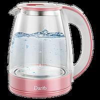Чайник электрический / стекло / 1,8 л / 1,8 кВт / DARIO DR1802_PINK