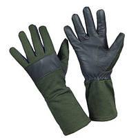 Негорящие перчатки Бундесвер кожаные с технологией Nomex 9