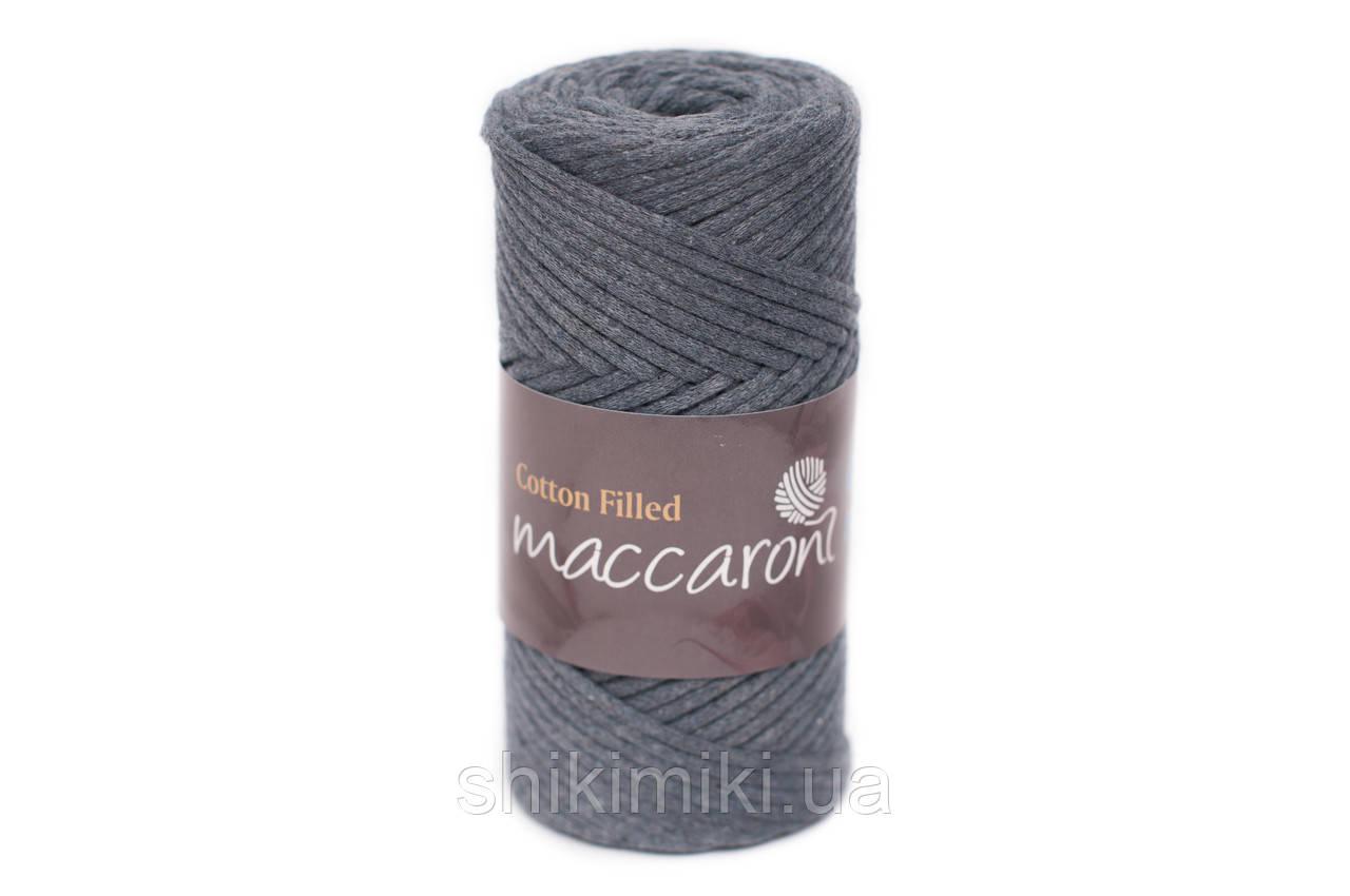 Трикотажный хлопковый шнур Cotton Filled 3 мм, цвет Джинсовый
