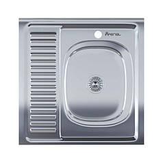 Мойка для кухни квадратная Imperial 6060-R  Satin IMP6060R06SAT
