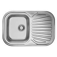 Кухонная мойка из нержавейки ULA 7707 ZS Decor ULA7707DEC08