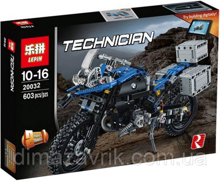 "Конструктор Lepin 20032 (Аналог Lego Technic 42063) ""Приключения на BMW R1200 GS"" 603 детали"