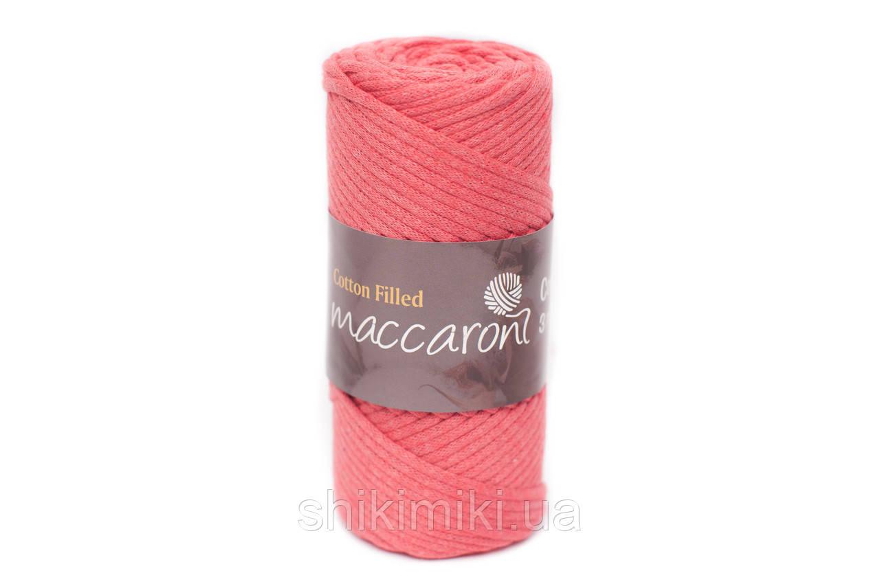 Трикотажный хлопковый шнур Cotton Filled 3 мм, цвет Коралловый