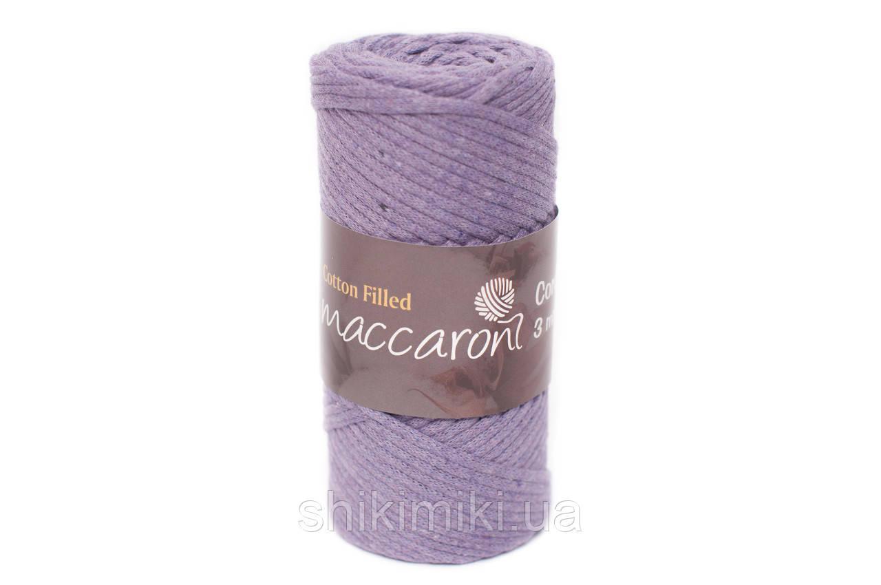 Трикотажный хлопковый шнур Cotton Filled 3 мм, цвет Лавандовый