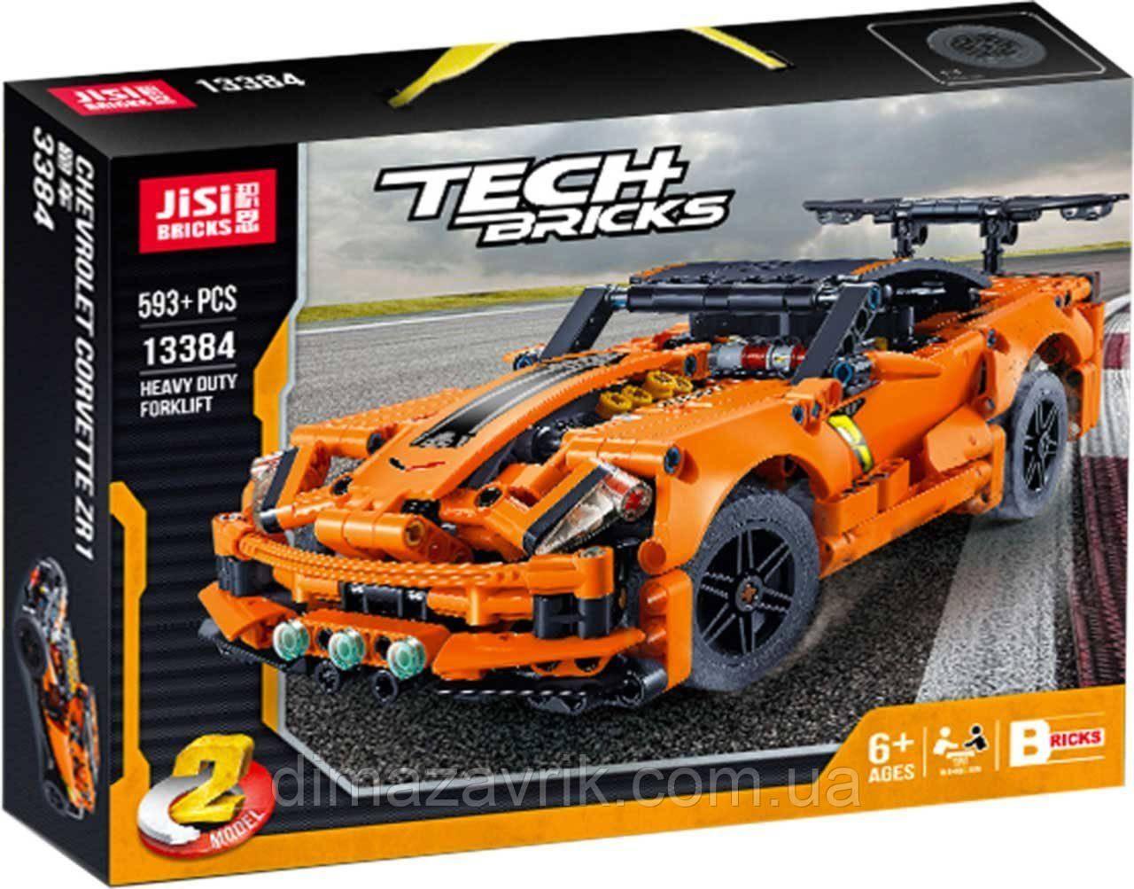 """Конструктор Decool 13384 (Аналог Lego Technic 42093) """"Шевроле Корвет ZR1"""" 593 деталей"""