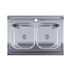 Мойка для кухни Imperial 6080 Satin двойная IMP6080SAT