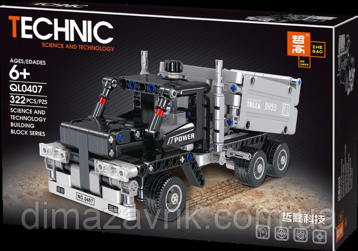 """Конструктор QL0407 (Аналог Lego Technic) """"Грузовик"""" 322 детали"""