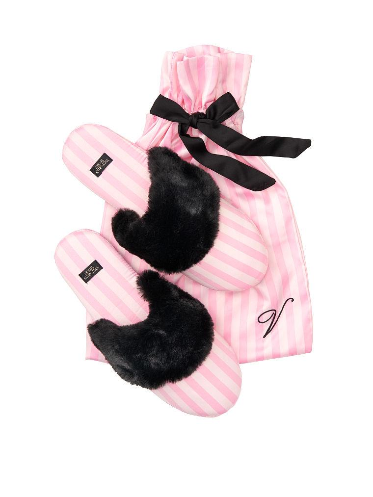 Тапочки Victoria's Secret сатиновые размеры M